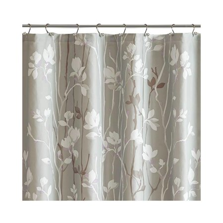 Madison Park Home Essence Holly Printed Shower Curtain, Gray