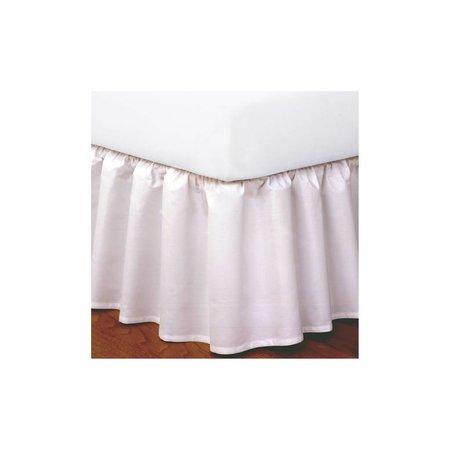 Today's Home King Sz Ruffled Bedskirt White