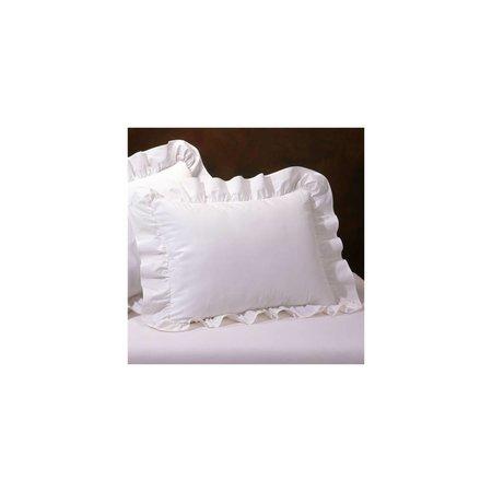 Today's Home Ruffled Standard Pillow Sham White