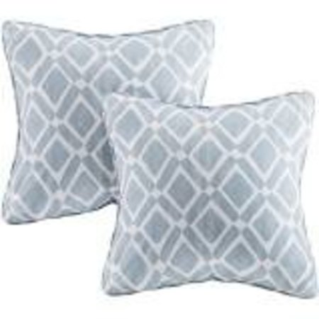 """Blue Natalie Printed Square Throw Pillow 2 Pack (20""""x20"""")"""