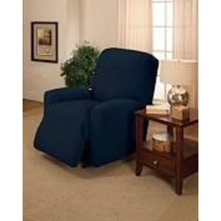 Madison Sanctuary Stretch Jersey Chair Slipcover Blue