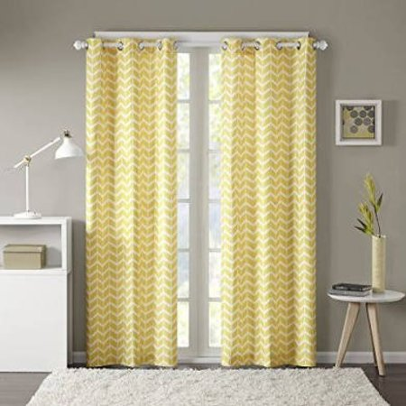 Adel Chevron Blackout Curtains 50x84in - yellow