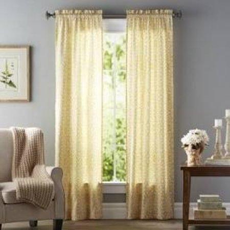 """Zephyrine Rod pocket curtains - yellow 56""""x84"""""""