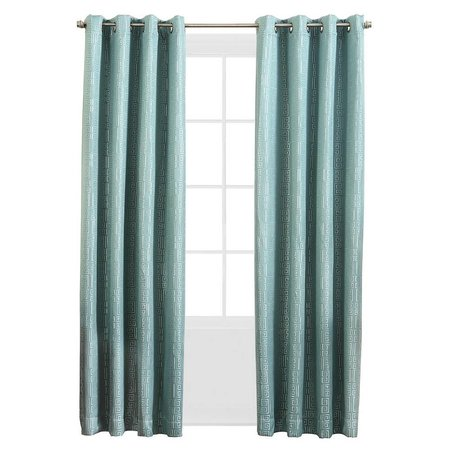 Sun Zero Theodore Blackout Lined Single Curtain Panel Spa Blue