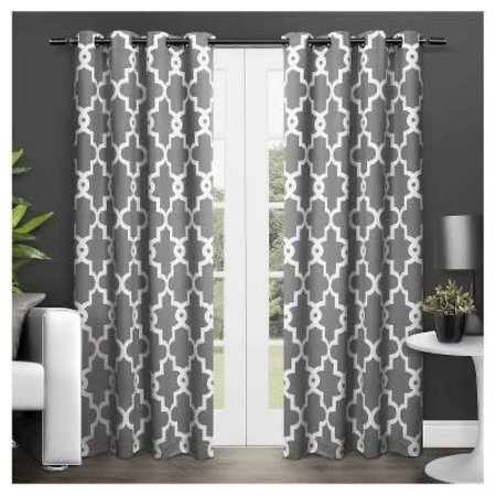 Britain Ironwork Room Darkening Curtain Panels