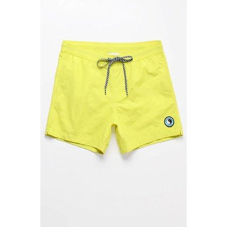 "T&C Surf Designs  Solid Yellow 15"" Swim Trunks"