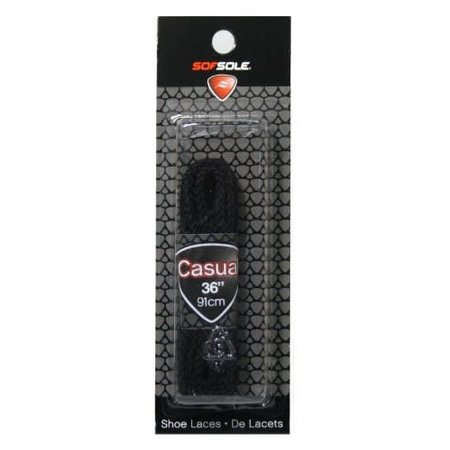 Round Casual Shoe Laces (Black, 36-Inch)