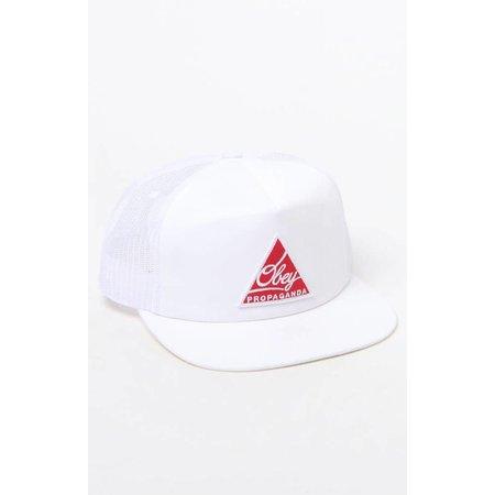 PacSun Obey Propaganda New Federation Trucker White/Red Hat