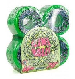 Santa Cruz Skate 66mm Slime Bells 66s Neon Green 78 A santa Cruz Skate