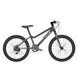EVO EVO, Rock Ridge 24 7-Speed Kid's Bicycle, Monster Black/Silver (2018)