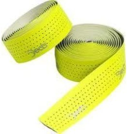 Deda, Mistral Fluorescent Yellow Perforated Synthetic Leather Printed Deda Logo