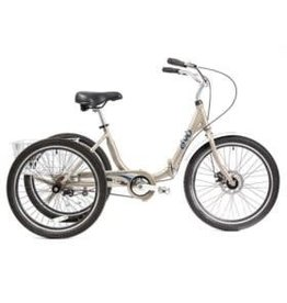 EVO EVO, Latitude 1-Speed Folding Trike, Sand (2017)