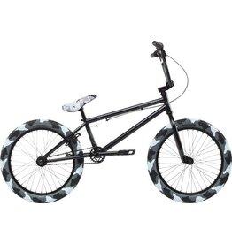 """Stolen Stolen 2018 STLN X FCTN 20"""" BMX Bike Matte Black With Urban Camo Tires"""