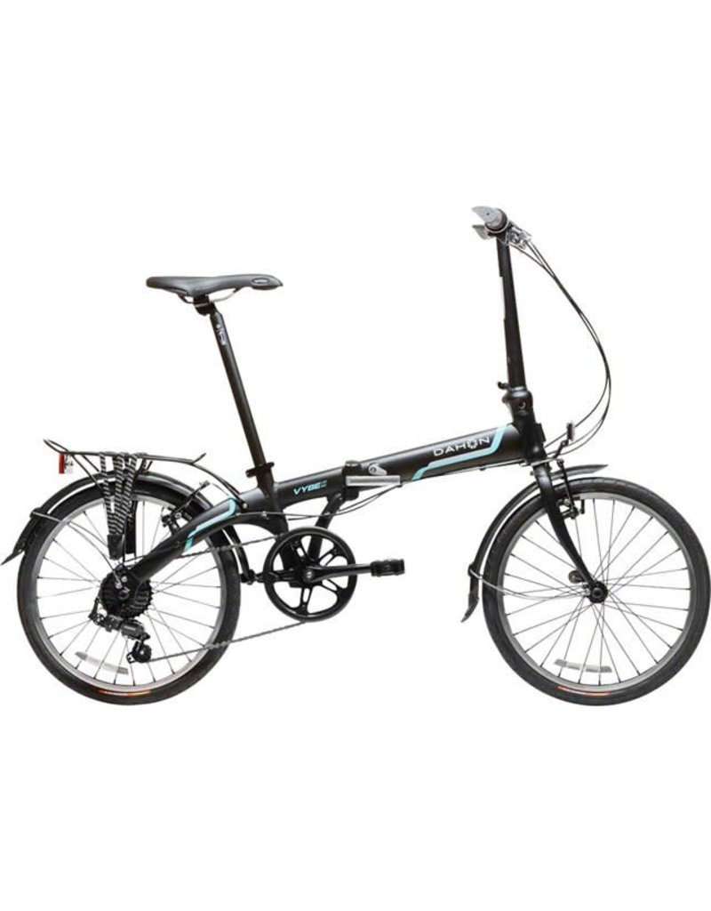 "Dahon Dahon Vybe D7 20"" Folding Bike with Rack and Fenders, Obsidian Matte"