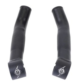 HB END OR8 BAR ENDS C-LITE SHORT ALY BK