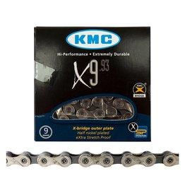 CHAIN KMC 1/2x11/128 X9 NP/DK SILVER