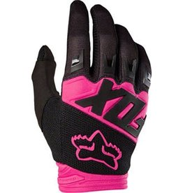 Fox Racing Dirtpaw Men's Full Finger Glove: Black/Pink LG