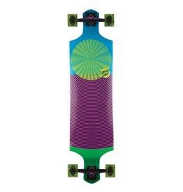 10in x 40in Spiral Dot Drop Down Santa Cruz Cruiser Skateboard
