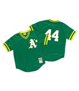 MITCHELL&NESS Reggie Jackson 1987 Authentic Mesh BP Jersey Oakland Athletics