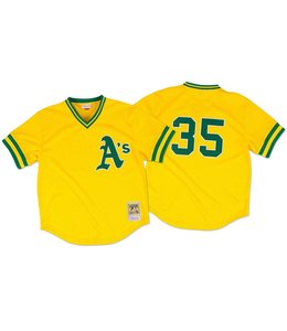 MITCHELL&NESS Rickey Henderson 1984 Authentic Mesh BP Jersey Oakland Athletics