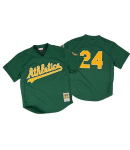 MITCHELL&NESS Rickey Henderson 1998 Authentic Mesh BP Jersey Oakland Athletics