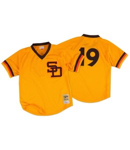 MITCHELL&NESS Tony Gwynn 1982 Authentic Mesh BP Jersey San Diego Padres