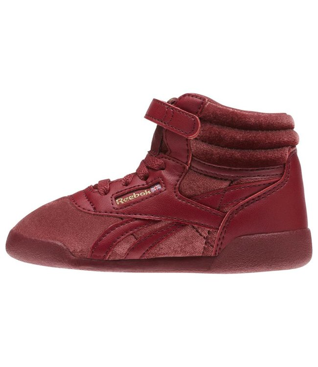 REEBOK FREESTYLE HI VELVET SNEAKER - INFANT