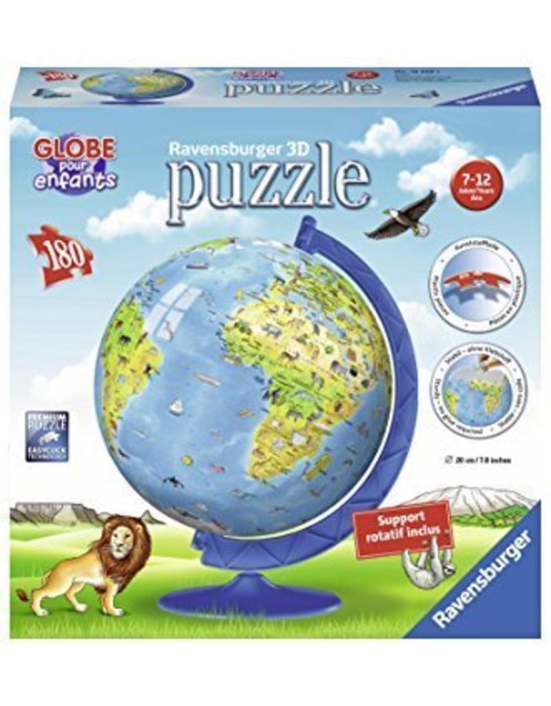 ravensburger globe terrestre pour enfants puzzle 3d 180mcx boutique courajeux. Black Bedroom Furniture Sets. Home Design Ideas
