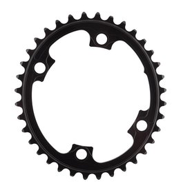 absoluteBLACK | Oval 110/130 BCD 2X Chainring, 110mm 4-Bolt, 36T