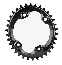 absoluteBLACK | Oval Traction Chainring for Shimano XT M8000/SLX M7000