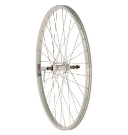 "Quality Wheels | Value Series Silver Pavement Rear Wheel 26"" Formula 135mm Freewheel / Alex Y2000 Silver"