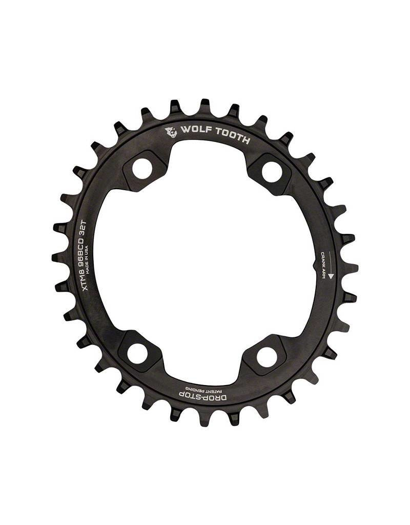 Wolf Tooth Components | Powertrac Elliptical Drop-Stop Chainring: 34T x 96 Shimano Asymmetric M9000
