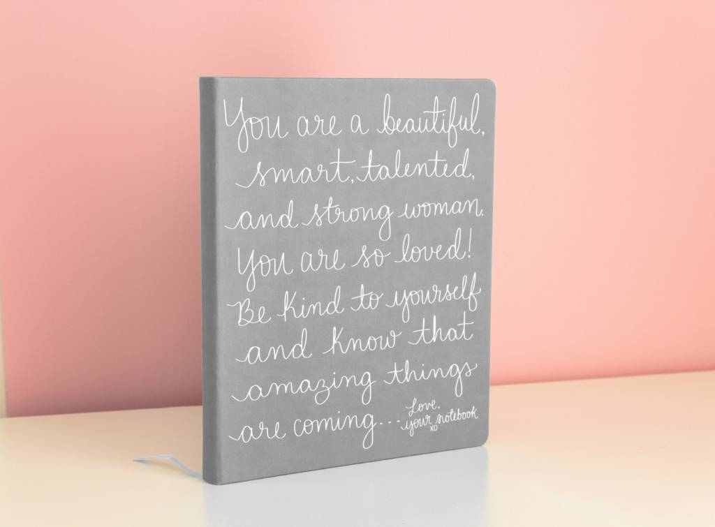 Eccolo Dayna Lee Large Notebook Grey