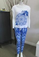 Desigual Livingwear 18SNTK02/PK02-Think in Blue Tee/Trousers