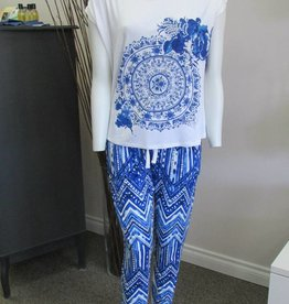 Desigual Livingwear 18SNTK02/PK02-Think in Blue Tee/Trousers