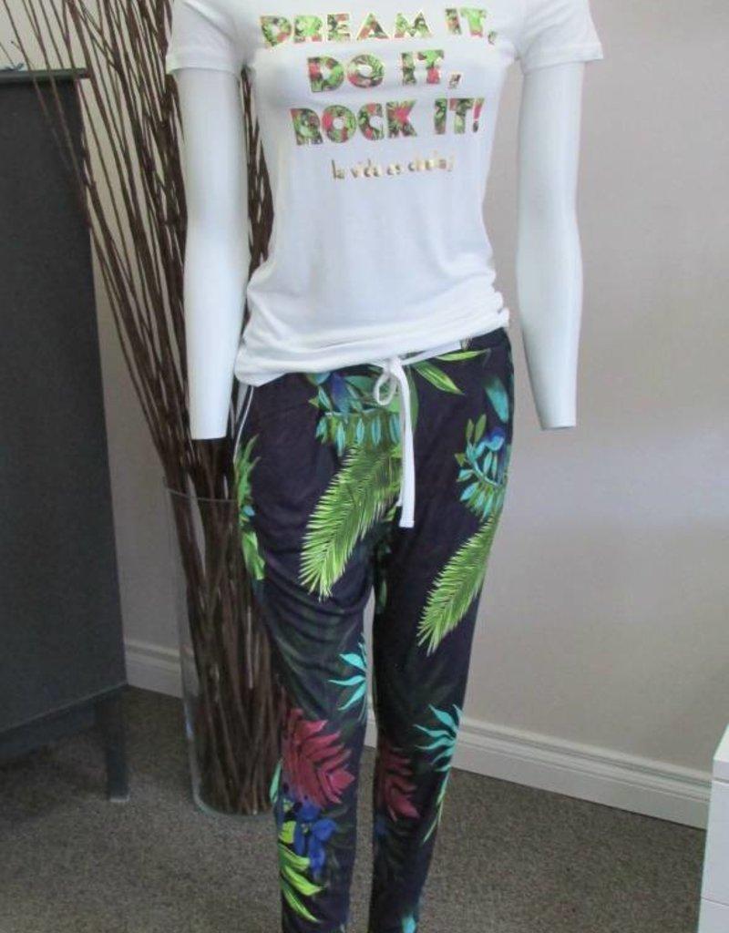 Desigual Livingwear 18SNTK06/PK05-Psychotropical Tee/Trousers