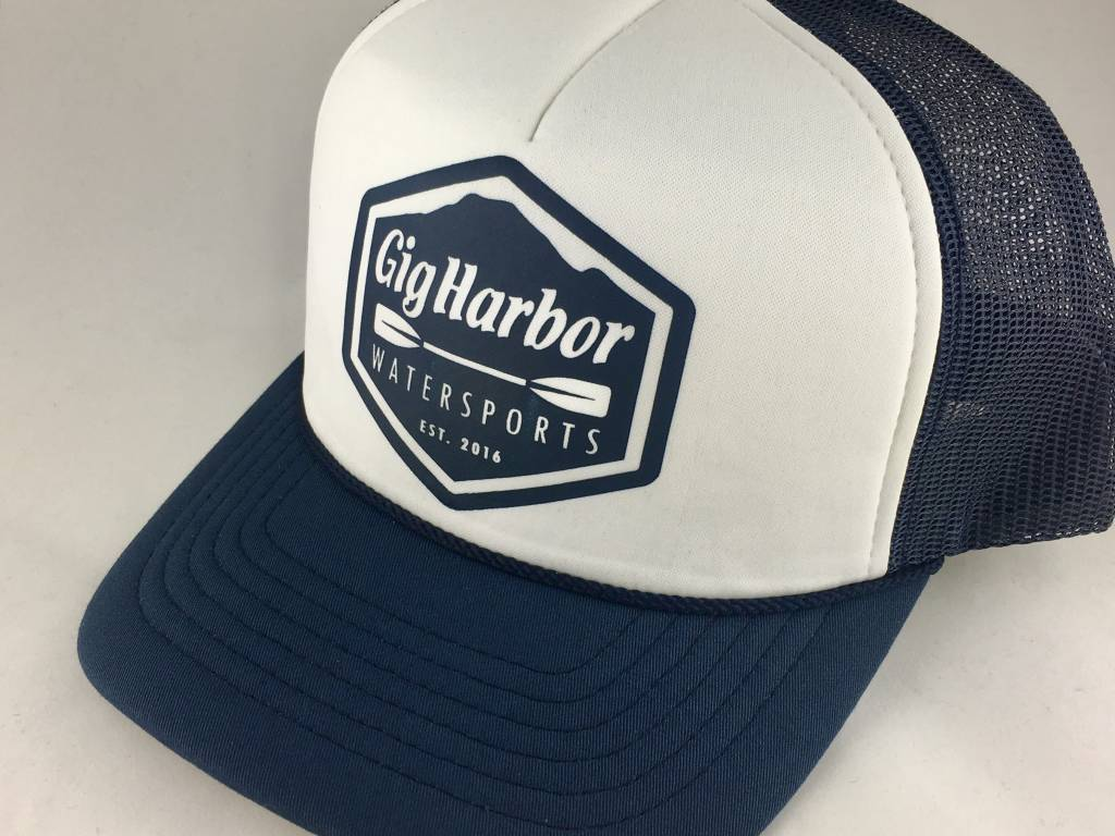Brist MFG. Gig Harbor Watersports Logo Foam Trucker Hat,