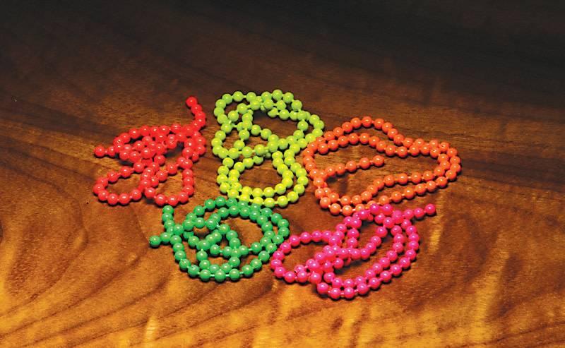 Hareline Dubbin Fl. Bead Chain Eyes,