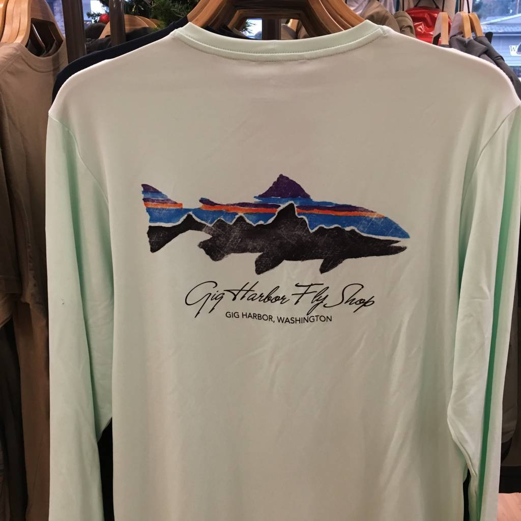 Patagonia Patagonia M's L/S Cap Daily T-Shirt - GHFS w/Fitz Trout,