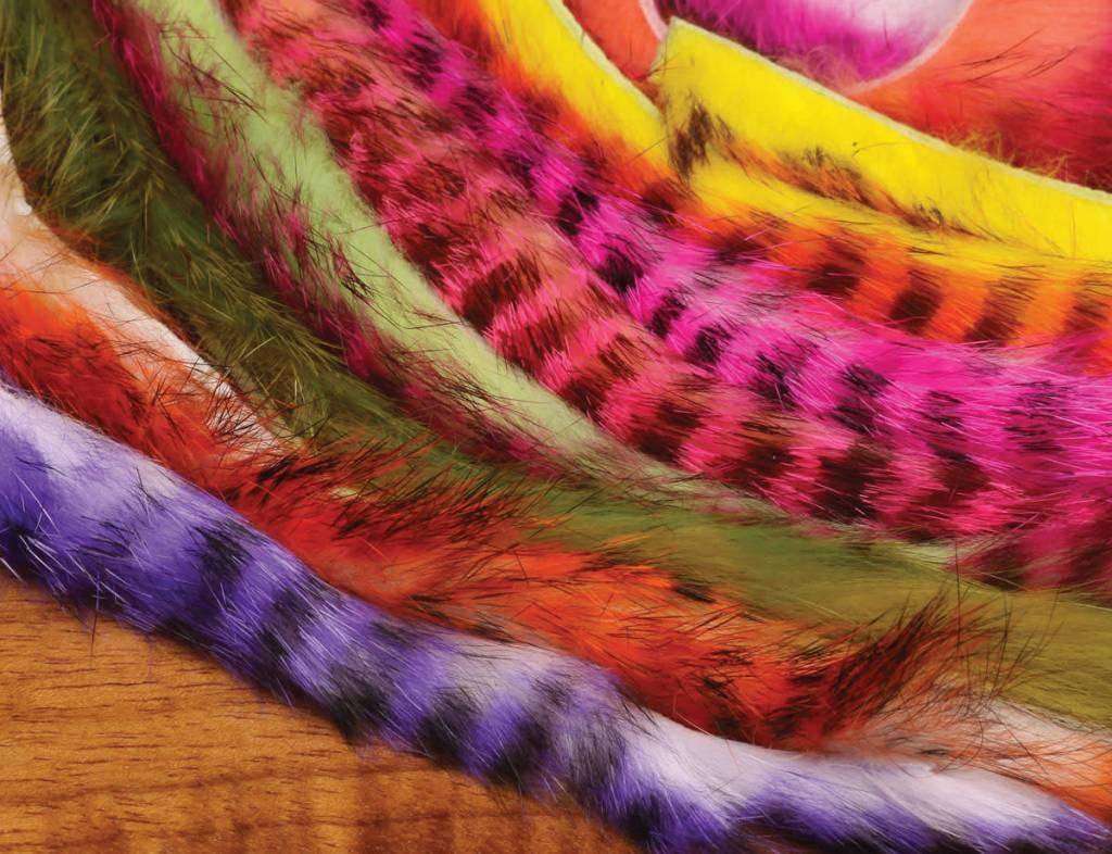 Hareline Dubbin Tiger Barred Rabbit Strips,