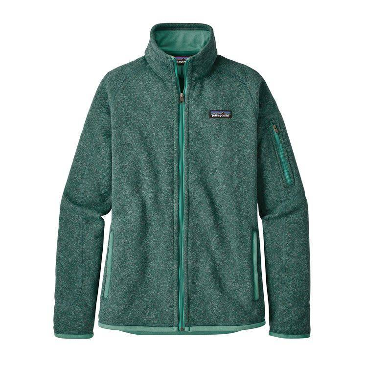 W's Better Sweater Jkt Beryl Green w/Beryl Green M