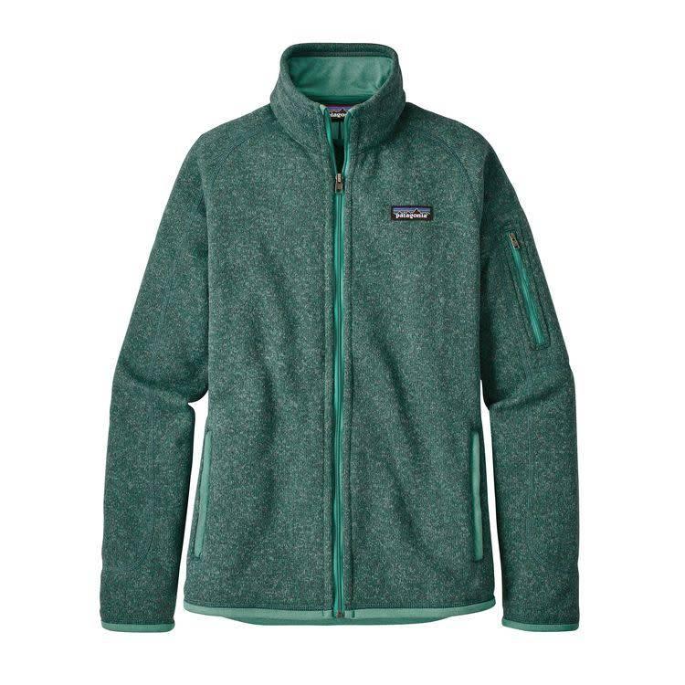 W's Better Sweater Jkt Beryl Green w/Beryl Green L