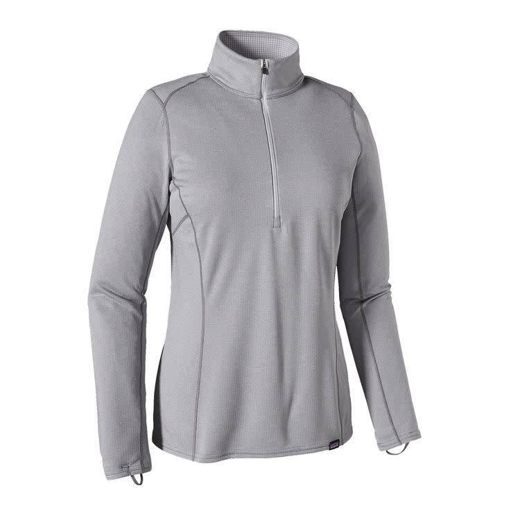 Patagonia W's Cap MW Zip Neck Feather Grey - Tailored Grey X-Dye L