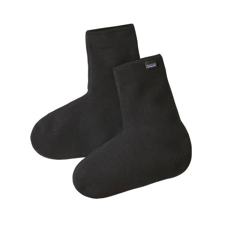 Winter Weight Fleece Oversocks Black L
