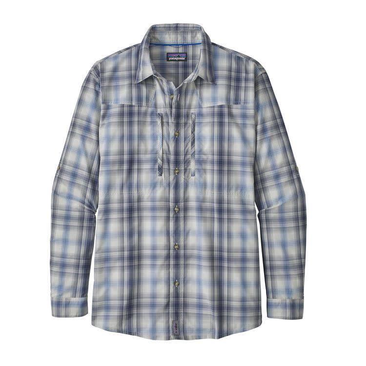 M's L/S Sun Stretch ShirtKing Swing: Radar Blue L