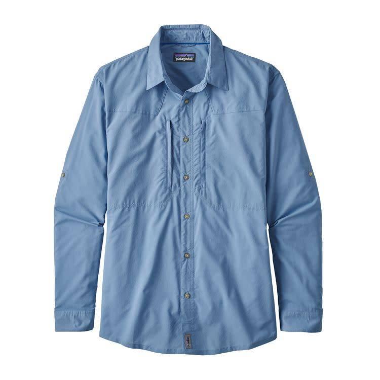M's L/S Island Hopper II Shirt Riffle Hitch: Railroad Blue M