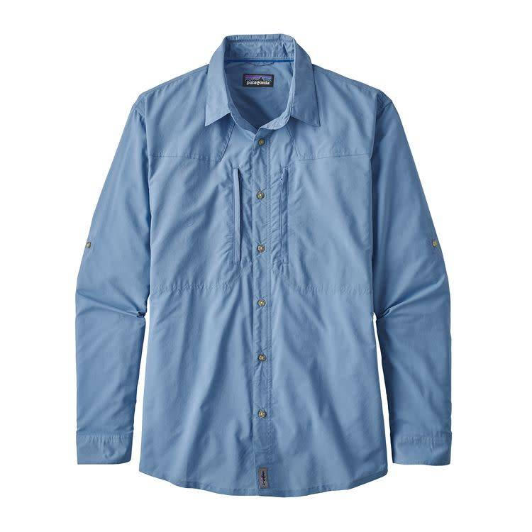 M's L/S Island Hopper II Shirt Riffle Hitch: Railroad Blue L