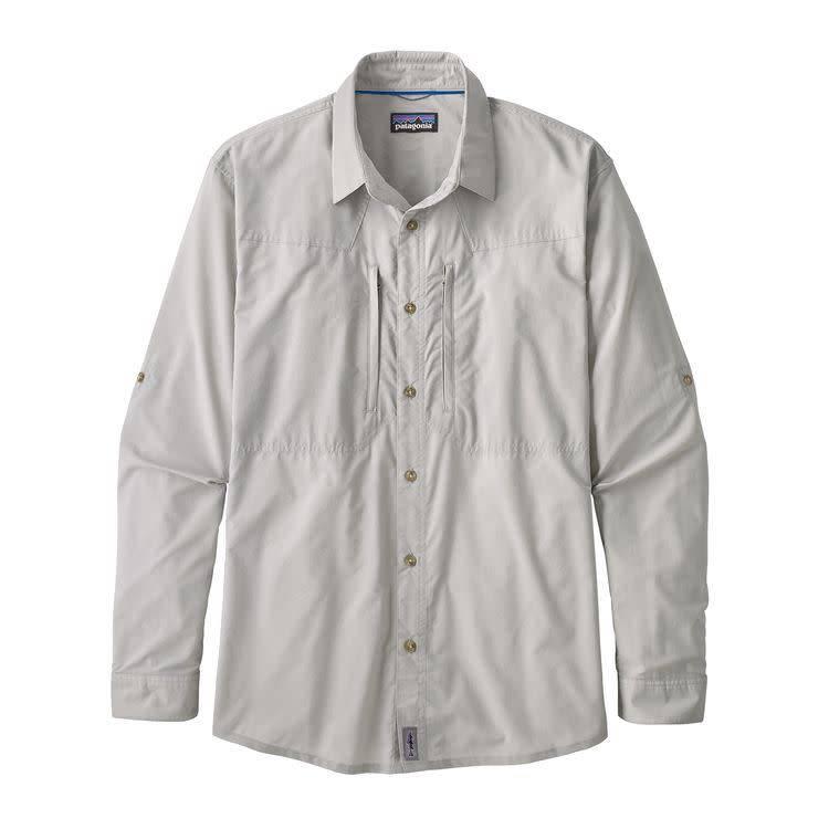 M's L/S Sun Stretch ShirtWhole Weave: Tailored Grey L