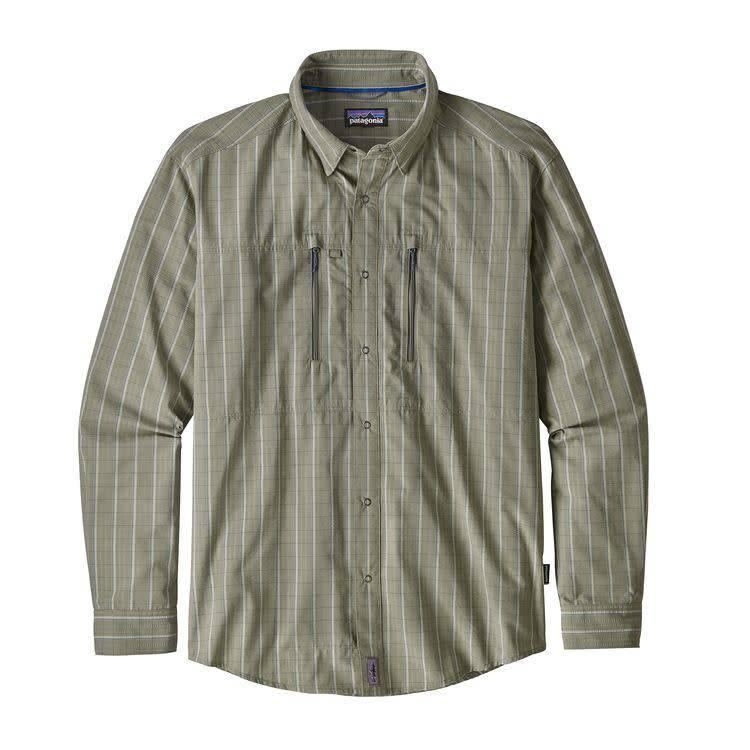 Patagonia M's Congo Town Pucker Shirt Kick Back: Desert Sage M