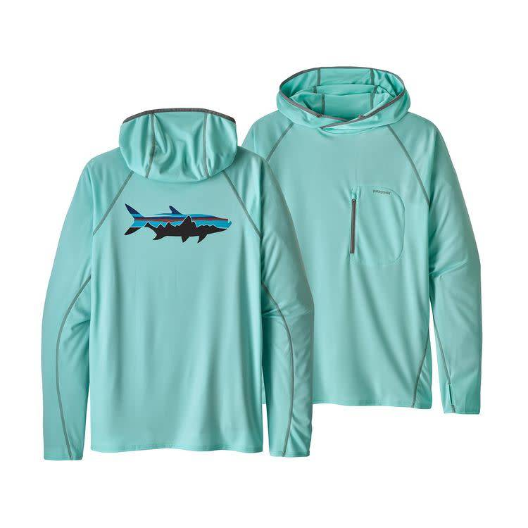 M's Sunshade Technical Hoody Fitz Roy Tarpon: Bend Blue L